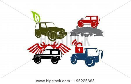 Jeep Car Service Ribbon Leaf Gear Wing Lock Collection1