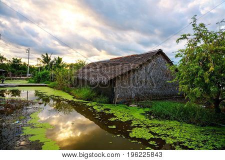 Rural Thai Wooden House