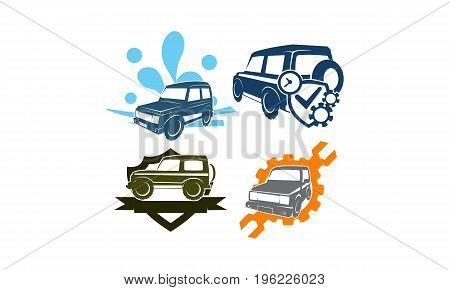 Jeep Car Service Wash Shield Ribbon Gear Screwdrive Collection1