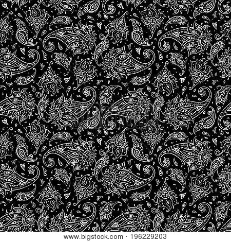 Paisley Ethnic ornament. Seamless Paisley background. Elegant Hand Drawn vector pattern.