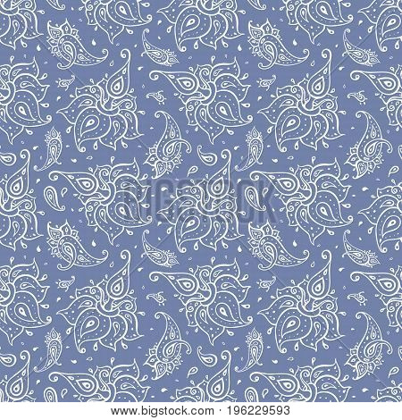 Beautiful Paisley seamless background. Elegant Ethnic Hand Drawn vintage Pattern