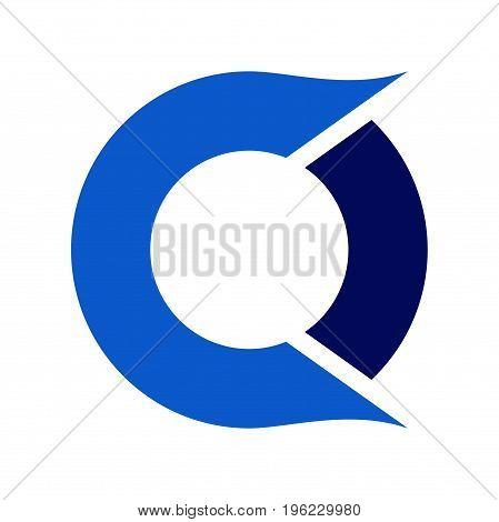 abstract co letter logo design, letter logo design