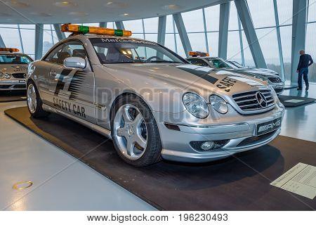 STUTTGART GERMANY- MARCH 19 2016: Official F1 Safety car Mercedes-Benz CL55 AMG 2000. Mercedes-Benz Museum.