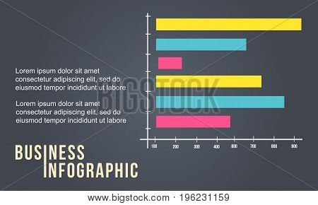 Business Infographic with graph style vector illustration