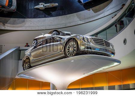 STUTTGART GERMANY- MARCH 19 2016: The concept car Mercedes-Benz F700 2007. Mercedes-Benz Museum.