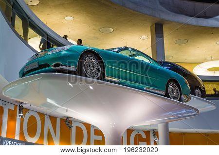 STUTTGART GERMANY- MARCH 19 2016: The concept car Mercedes-Benz F200