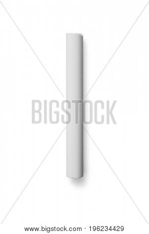 Chalk on white background -Clipping Path