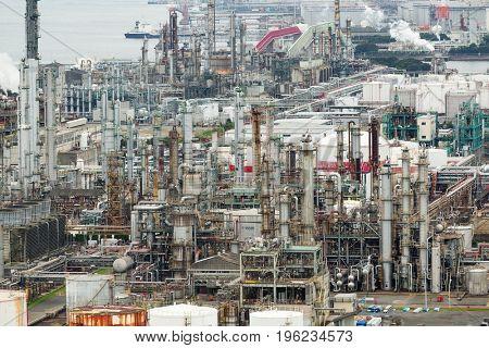 Industrial factory in Yokkaichi city at Japan