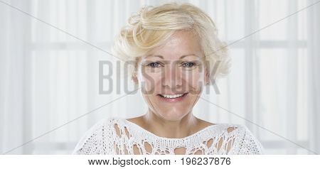 Portrait of forty five years woman