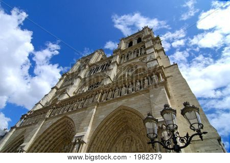 Notre Dame With Sculptures