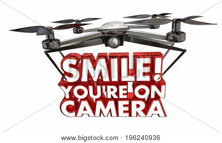 Smile Youre On Camera Drone Spying Video 3d Illustration