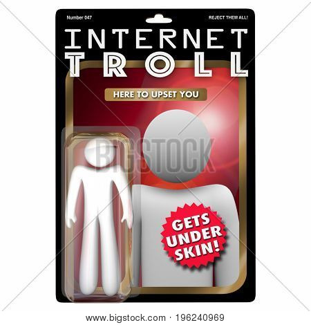 Internet Troll Action Figure Commenting Upset Anger 3d Illustration