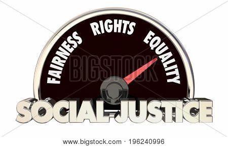 Social Justice Levels Equality Fairness Civil Rights 3d Illustration