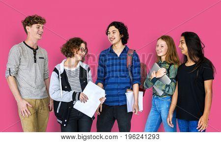 Group of Diverse Students Friendship Together Studio Portrait