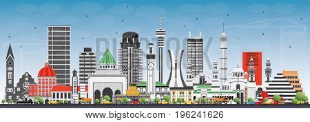 Famous Landmarks in Africa. Business Travel and Tourism Concept. Image for Presentation, Banner, Placard and Web Site