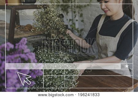 Flower Shop Website Layout Blank Banner