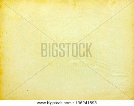 old note paper isolated on white background