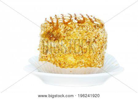 fresh cake isolated on a white background