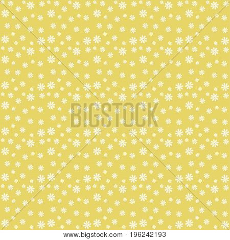 Cute floral seamless vector pattern in pale tones