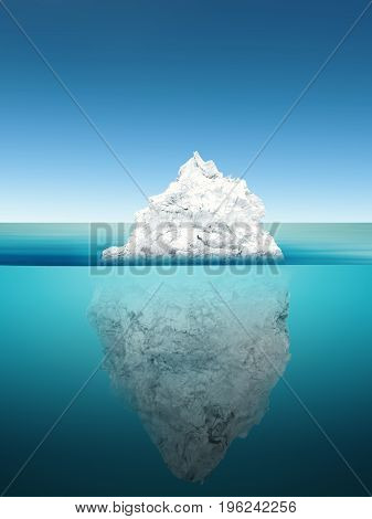 Iceberg Model On Blue Ocean