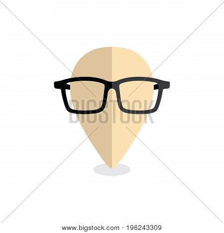Nerd Geek Map Pin Locator - Location Marker Vector
