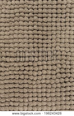 microfiber cloth or brown bathmat with rough texture background