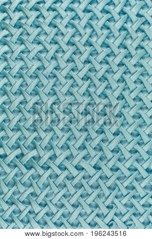 blue satin cloth with plait pattern background