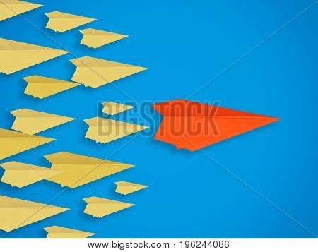 Leadership Concept With Paper Plane