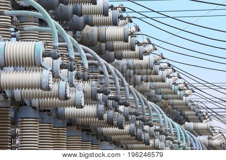 Electrical substation.The power generation equipment.Equipment for the production and distribution of electrical energy