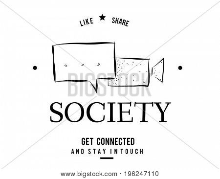 Online Community Digital Media Connection Society Communication Speech Bubble Graphic
