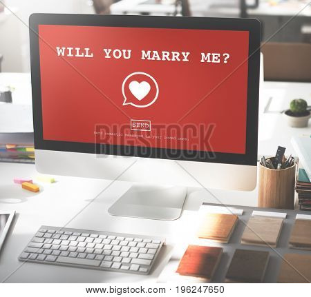Will You Marry Me? Valentine Romance Heart Love Passion Concept