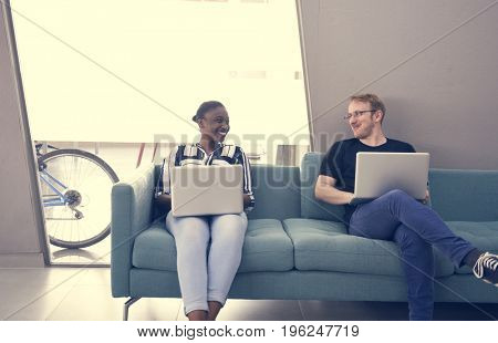 Start up Business People Working on Laptop