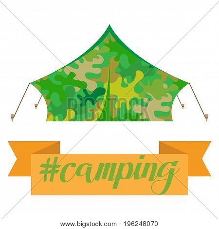 Tourist tent icon. Camping tent house. Vector illustration eps10