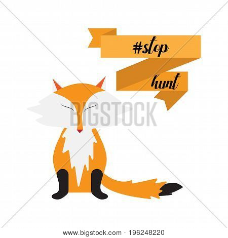 Stop hunt Vector Illustration isolated on white background