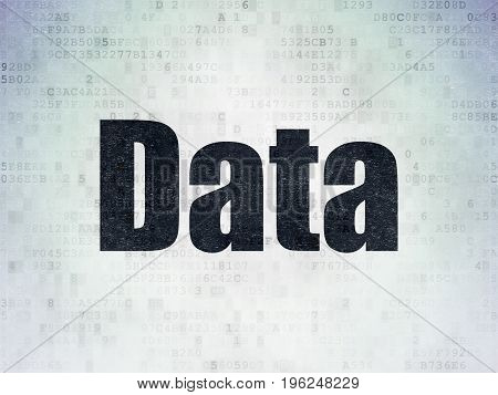 Data concept: Painted black word Data on Digital Data Paper background