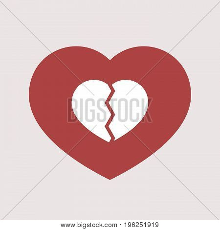 Isolated Heart With A Broken Heart