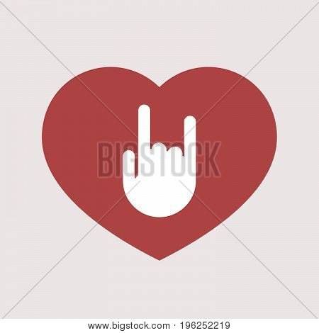 Isolated Heart With A Rocking Hand
