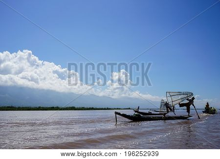 Landscape Of Inle Lake In Shan, Myanmar