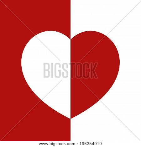 heart icon isolated on white background. vector illustration