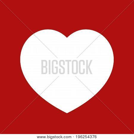 Lovely Heart frame on red background. Vector illustration