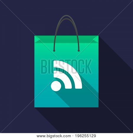 Long Shadow Shopping Bag With An Rss Sign
