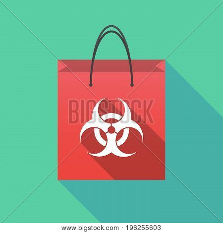 Long Shadow Shopping Bag With A Biohazard Sign