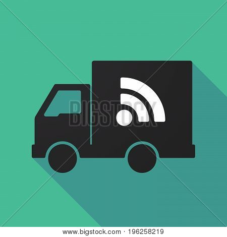 Long Shadow Truck With An Rss Sign