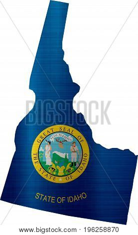 flag map idaho illustration country  nation  design