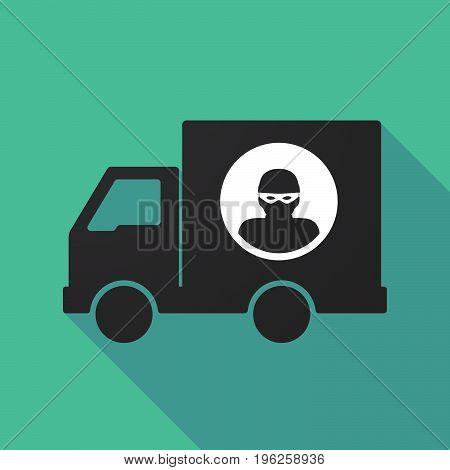 Long Shadow Truck With A Thief