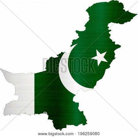 flag map pakistan illustration country  nation  design
