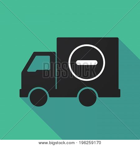 Long Shadow Truck With A Subtraction Sign