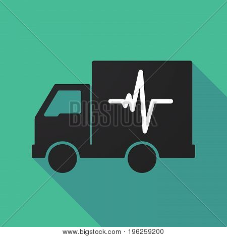 Long Shadow Truck With A Heart Beat Sign