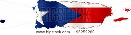flag map puerto rico illustration country  nation  design