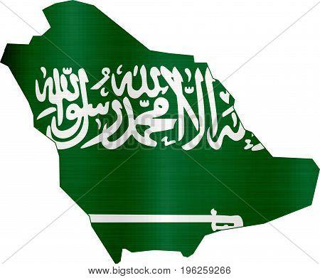 flag map saudi arabia illustration country  nation  design